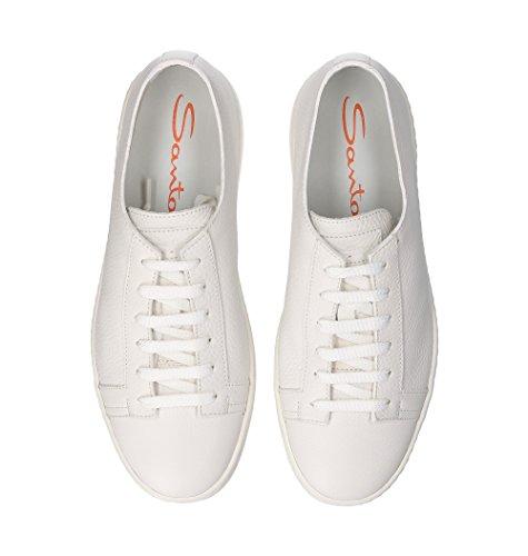 Uomini Santoni Mbcn14387ba6cmiai48 Sneakers In Pelle Bianca