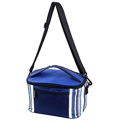 eDealMax Viajes acampa Portable Con aislamiento térmico más frío almuerzo de Picnic caja lleva el bolso