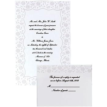 Wilton Flirty Fleur Wedding Invitation Kit
