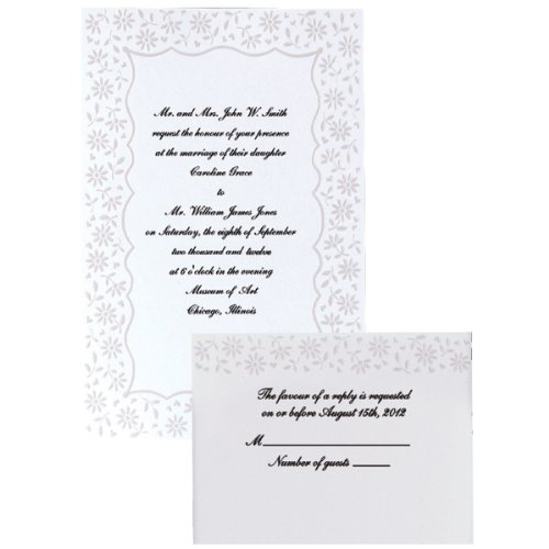 Wilton Flirty Fleur Wedding Invitation Kit
