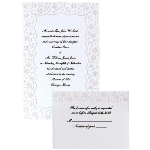 Wilton Flirty Fleur Wedding Invitation -