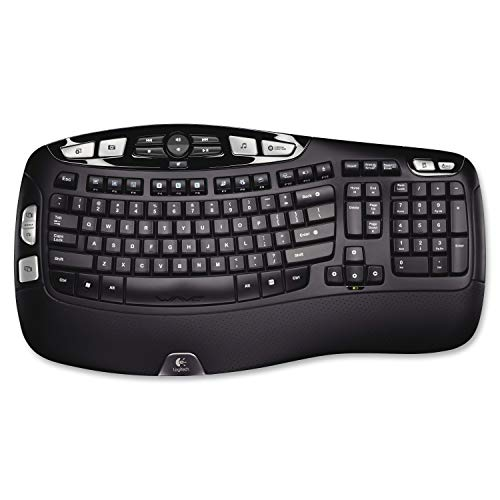 Logitech K350 Wireless Wave Keyboard with Unifying Wireless Technology