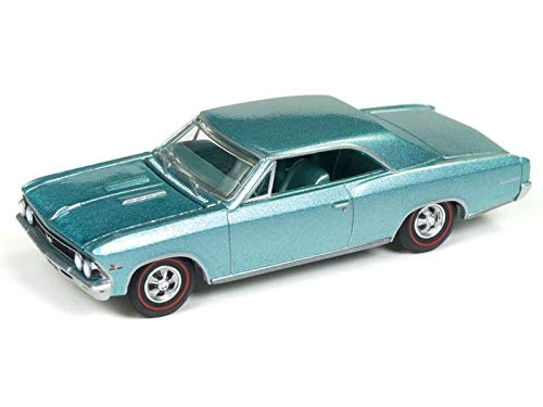 1966 Chevrolet Chevelle SS Artesian Turquoise Limited Edition to 2,016 Pieces Worldwide 1/64 Diecast Model Car by Autoworld AWSP012 ()
