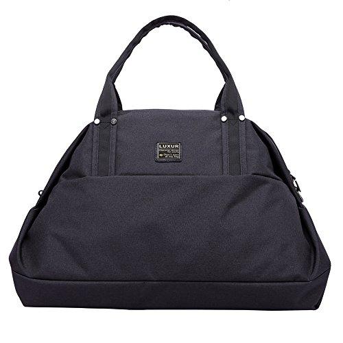 LUXUR Travel Duffel Bag Waterproof Weekender Luggage for Hiking Business Gym (50L) by LUXUR (Image #3)