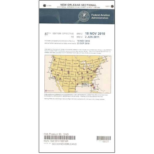 FAA Chart: VFR Sectional NEW ORLEANS SNO (Current - New Orleans Shops Airport