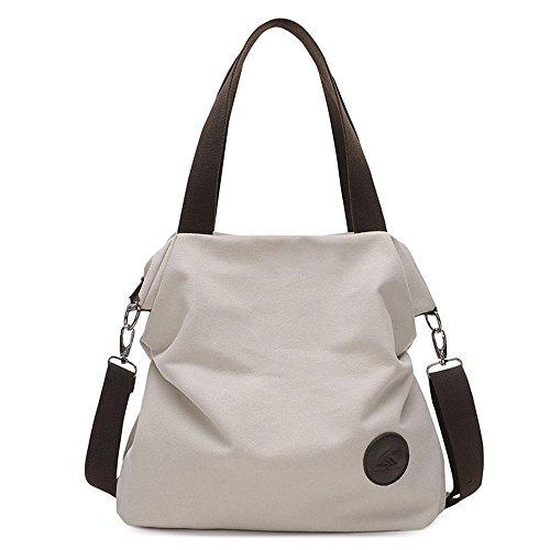 Asdflina pour bandoulière Usage Un rétro à Quotidien Grande Bag Sac Convient Couleur capacité capacité Loisirs Commuter Grande Canvas rxqrI6Z