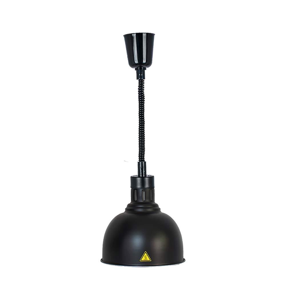 Lunghezza Regolabile 60-180 cm per lampade riscaldanti a Buffet,F Wensa Riscaldamento degli Alimenti Sospensione telescopica con Lampada per Riscaldamento Alimentare Paralume Grande 25 cm