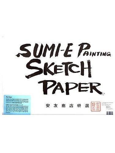 "Yasutomo 6JM Rice Paper Sketch Pad, 48 Sheets, 12-1/8"" x 18-"