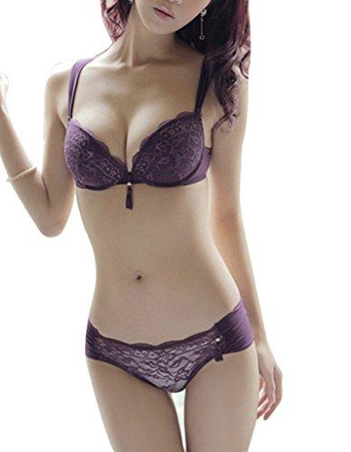 Burvogue Women's Push up Bra with Matching Panty Set - Comfortable Bra And Panty Sets