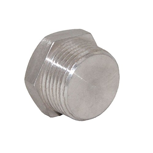 Joyway Soild Stainless Steel Outer Head Hex Thread Socket Pipe Plug Fitting 1-1/2