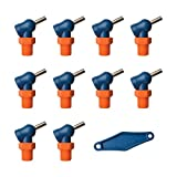 Loc-Line 79094 Acetal HPT Nozzles (XR Style) with Adjustment Lever, 0.160'' x 0.5'', Thread Size 1/4'' (Pack of 11)