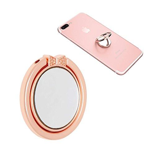 NOPNOG Finger Ring Stand Cell Phone Holder Grip Mirror Design 360