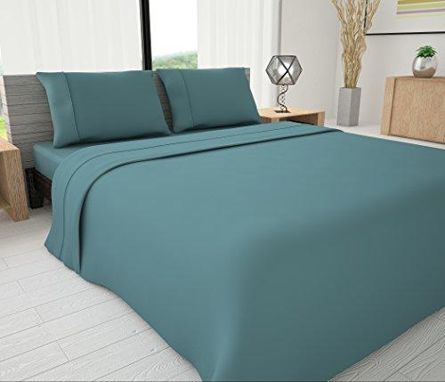Livingston Home LH-33623 Novelty Bedding King Sheet Set,Teal,