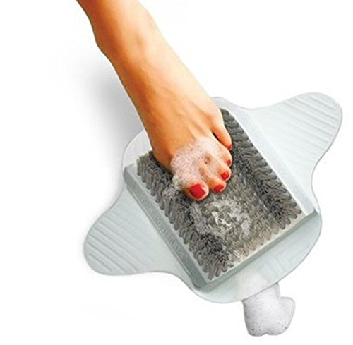 EPHVODI Foot Scrubber Brush Feet Massager Spa Cleaner with Non-Slip Suction Cups,Callus Remover for Shower Floor(Grey)