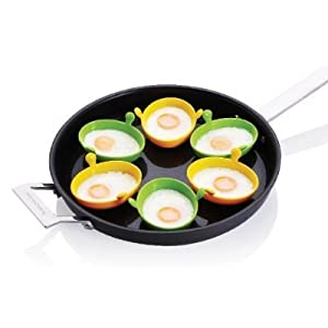 Amazon.com: Silicone Egg Poachers (Set of 6): Egg Poacher Insert ...