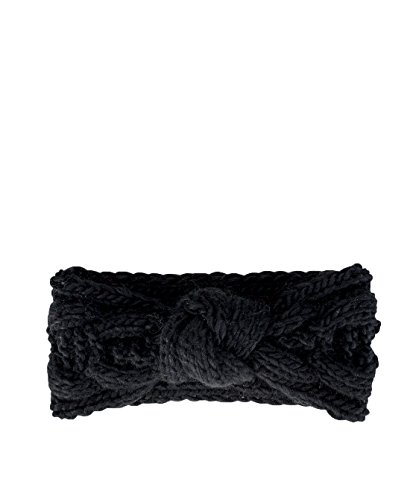 San Diego Hat Company Women's Cable Knit Knot Headband, Black, OS