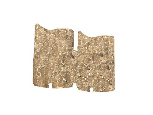 Applique da parete luci cristallo selene papiro foglia