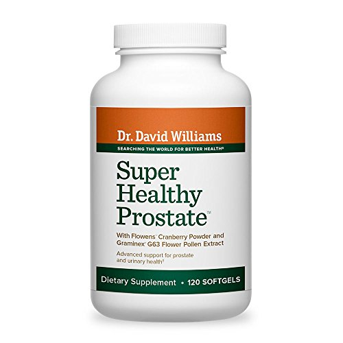 Dr. David Williams' Super Healthy Prostate Promotes Healthy Prostate Tissue and Function and Normal Urinary Flow, 120 Softgels (30-day supply)