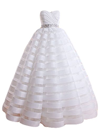 BRL Gown Women's Ball White Dresses Ruched Prom Sweetheart MALL Neck rPXHw54nRr