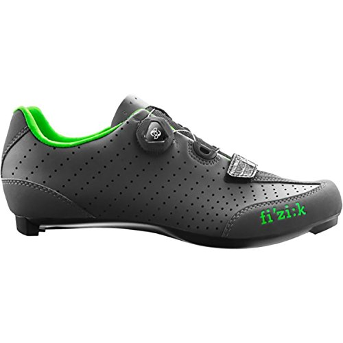 Fizik 2016 Men's R3B Uomo Boa Road Sport Cycling Shoes - Anthracite/Green (Anthracite/Green - 42.5)