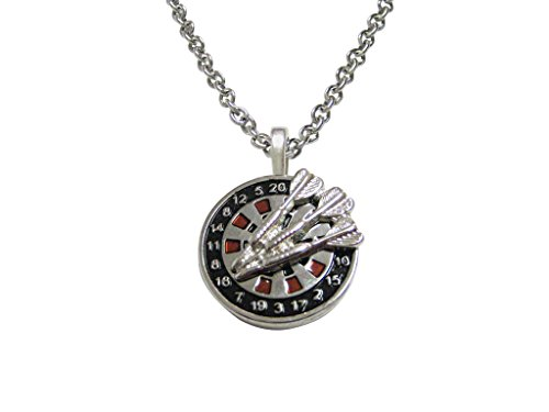 Dart and Dart Board Pendant Necklace