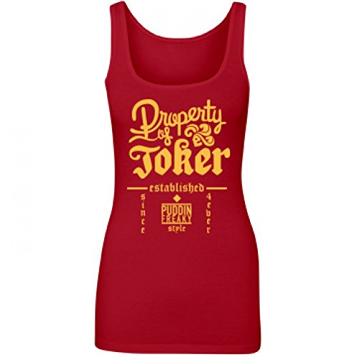 [Joker's Property Tank: Junior Fit Longer Length Tank Top] (Cute Couples Halloween Outfits)