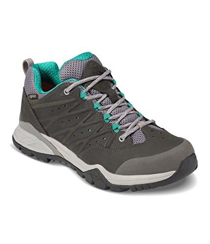 The North Face Women's Hedgehog Hike II Gore-Tex - Q-Silver Grey & Porcelain Green - 8
