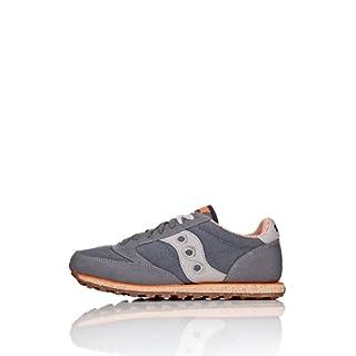 Saucony mens Jazz Low Pro Vegan Sneaker, Charcoal/Orange, 10 M US