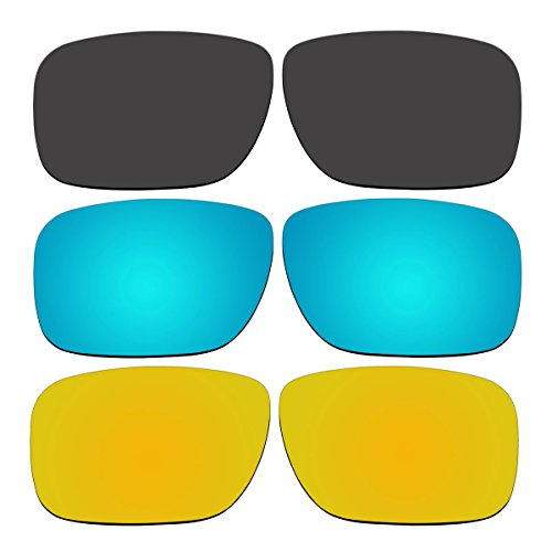 3 Pair Replacement Polarized Lenses for Oakley Holbrook Sunglasses Pack - Oakley All Polarized Are Lenses