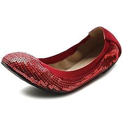 Sequin Ballet Comfort Flat