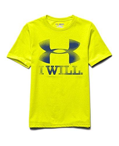 Under Armour Big Boys' UA Contender T-Shirt Youth Medium YELLOW RAY