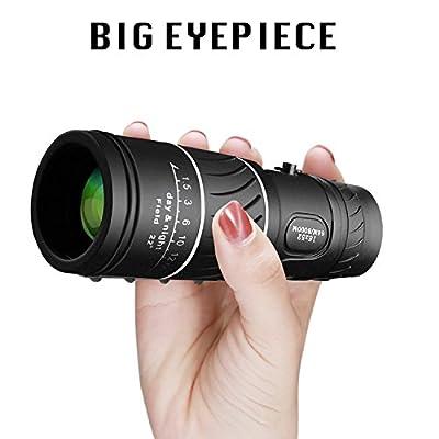 VOCH Monocular Telescope, 10X42 Dual Focus, Prism Film Optics,Waterproof, Monocular Scope for Birdwatching/Hunting/ Camping/Hiking / Golf/Concert/ Surveillance