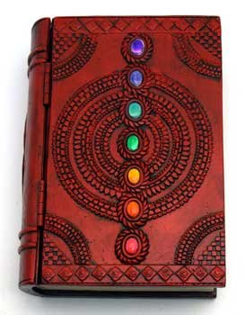 (AzureGreen Decorative Boxes Tarot Card Holder Seven Colored Gemstone Chakra Book Box With Hinged)