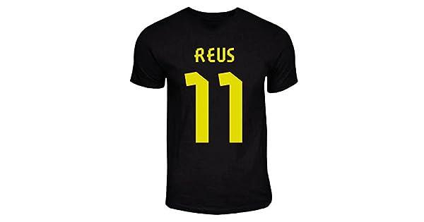 Amazon.com: Marco Reus Dortmund Away Hero T-Shirt (Negro ...