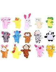 Tomaibaby 22 Stks Dieren Vingerpoppetje Speelgoed Mini Pluche Figuren Speelgoed Zachte Handen Vingerpoppetjes Spel Voor Autistische Kinderen Familie Ouders Praten Verhaal Set