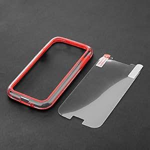 Fashion Design Two-tone Plastic and TPU Bumper Case for Samsung Galaxy S4 i9500/i9505 --- COLOR:White
