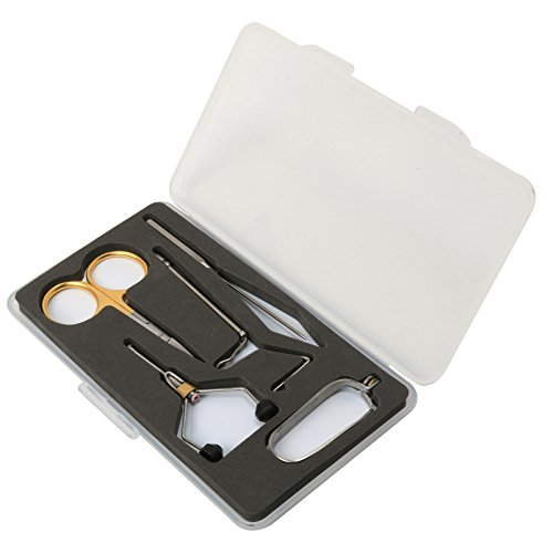 (Fly Tying Tools FLYSOUL Gift Set with Fly Box Combo (grey))