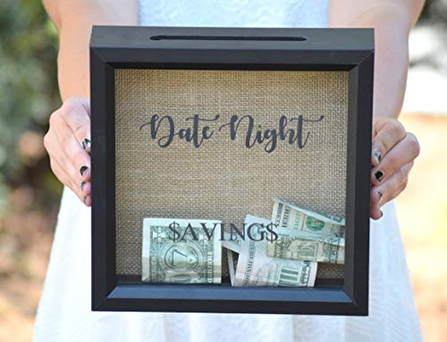 Date Night - Date Night Savings - Piggy Bank - Date Night Jar - Personalized Gift - Shower Gift - Date Night Ideas - Date Night Jar - Picture Frame -