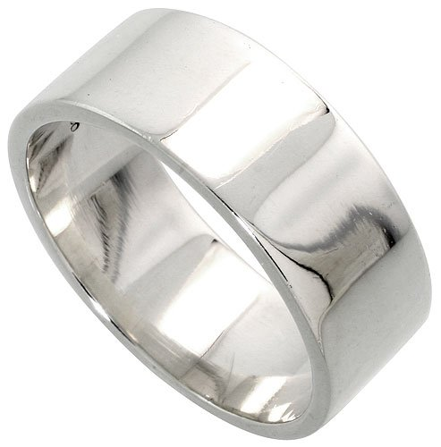 8mm Band Sterling Silver Ring - 5