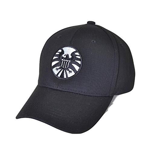 MXCOS Carol Danvers Captain Cosplay Shield Hat Baseball Cap for Adult (Black)