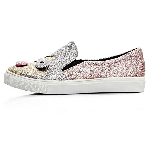 Women AicciAizzi Canvas Slip On Pink Shoes Tnxvd8Hq7v