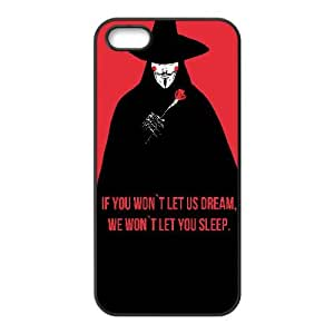 V For Vendetta Quote Typography 0 15 iPhone 4 4s Cell Phone Case Black WON6189218989933