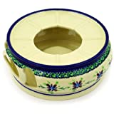 Polish Pottery Heater 7-inch Gingham Patchwork