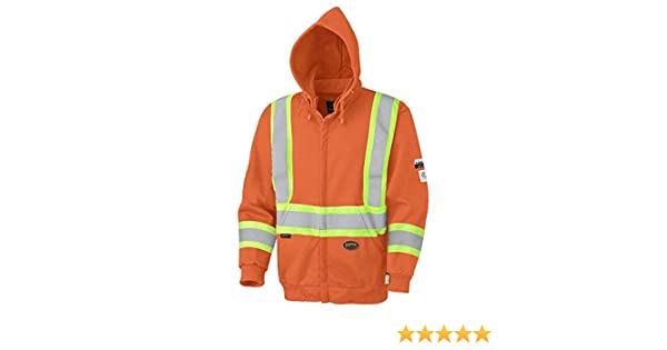 Pioneer V1060560-5XL High Visibility Safety Hoodie Micro Fleece Yellow-Green 5XL