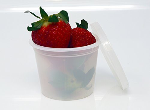 Vito's famous Deli Container with Lid, 4 Ounce (Pack 50)
