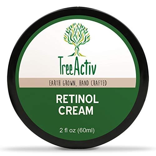TreeActiv Retinol Cream | Anti-Aging Day & Night Cream | Deeply Hydrates and Targets Wrinkles & Fine Lines | Retinol, Hyaluronic Acid, Hydrovance, Provitamin B5, Jojoba Oil, Carrot Cells (2 fl oz)