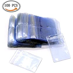 IDS 100 Pcs Clear Resealable Zipper Poly Bags Jewelry Antitarnish Anti-Oxidation PVC 5 Mils Thick Self Sealing Zipline Pouches Flat Grip Seal Reclosable Rings Earrings Mini Pack, 1.57x2.36 inch
