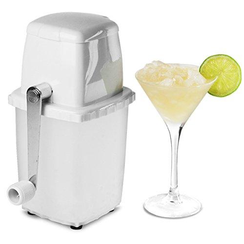 White Plastic Ice Crusher - Cocktail Ice Crusher by bar@drinkstuff, Manual Ice Cube Crusher, Domestic Use - Great for Mojito Cocktails! by bar@drinkstuff