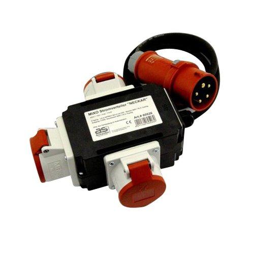 Stromverteiler 400V 3 x 16 A MIXO Kraftstrom Starkstrom Strom Verteiler baupark24