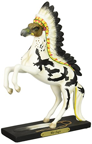 """Enesco Trail of Painted Ponies """"War Eagle"""" Stone Resin Horse Figurine, 10.8"""""""